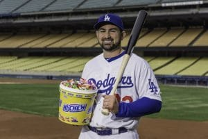 Hi Chew with Adrian Gonzalez